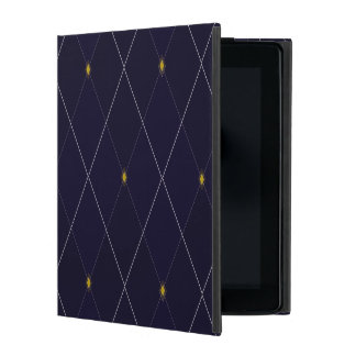 Bright Diamond Navy Argyle iPad Case