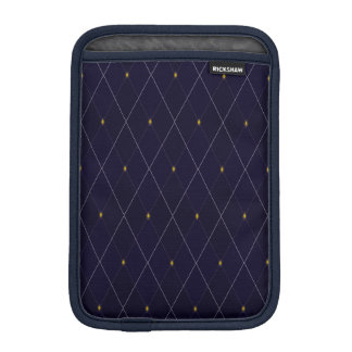 Bright Diamond Navy Argyle iPad Mini Sleeve