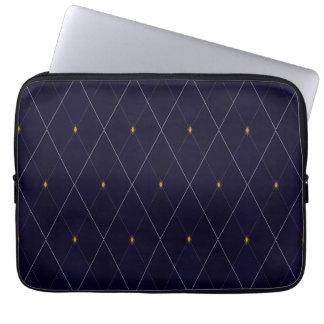Bright Diamond Navy Argyle Laptop Computer Sleeves