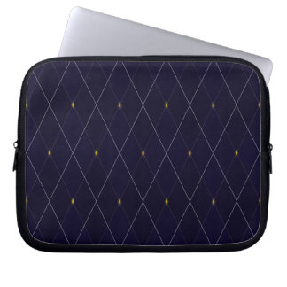 Bright Diamond Navy Argyle Laptop Sleeves