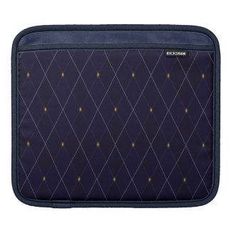 Bright Diamond Navy Argyle Sleeve For iPads