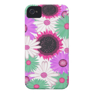 Bright Digital Flowers Blackberry Bold Case