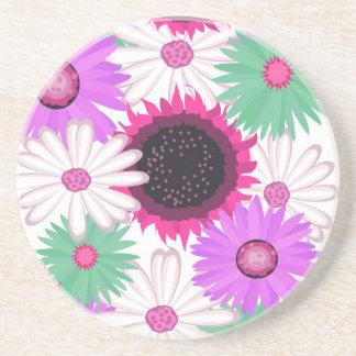 Bright Digital Flowers Coaster