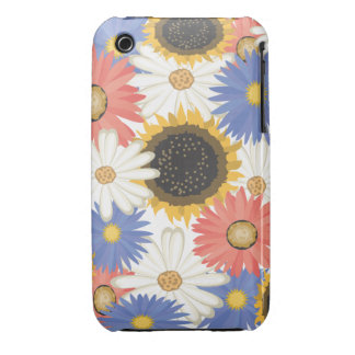 Bright Digital Flowers iPhone 3/3GS Barely There iPhone 3 Cover
