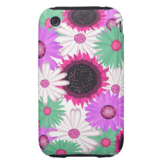 Bright Digital Flowers iPhone 3G/3GS Case iPhone 3 Tough Case