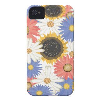 Bright Digital Flowers iPhone 4/4S ID Case