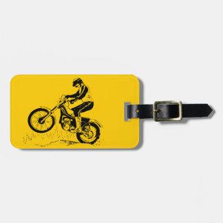 Bright Dirt Bike ATV Design Luggage Tags