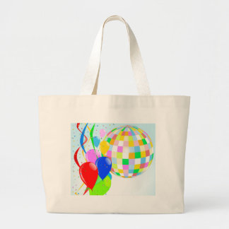Bright Disco Ball Large Tote Bag