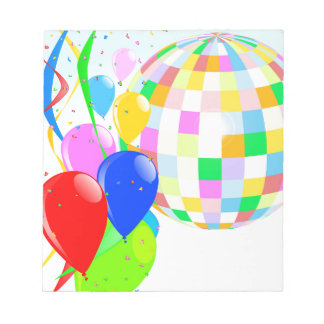 Bright Disco Ball Notepads