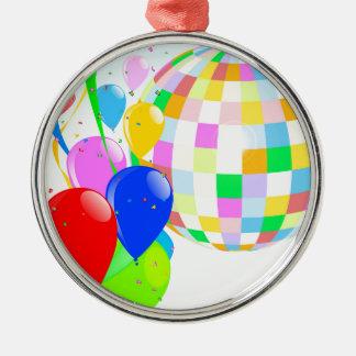Bright Disco Ball Silver-Colored Round Decoration