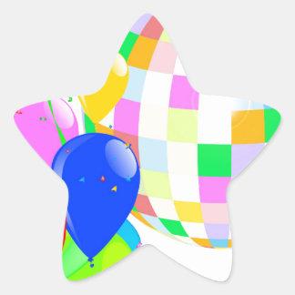 Bright Disco Ball Star Sticker