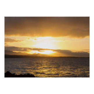 Bright Dominican Sunset Poster