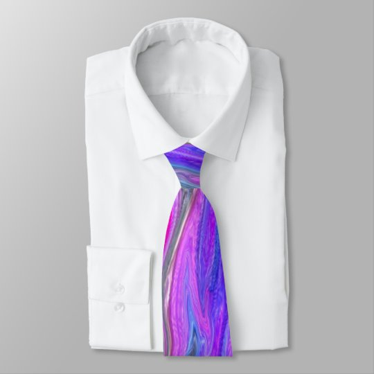 Bright Double Colour Abstract Men's Tie