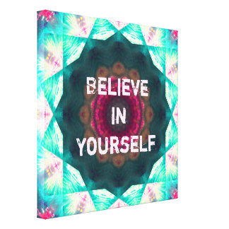 Bright Dreams Mandala | Believe In Yourself Canvas Print