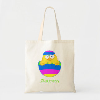 Bright Easter Egg Chick Tote Bag