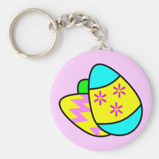 Bright Easter Eggs Keychain