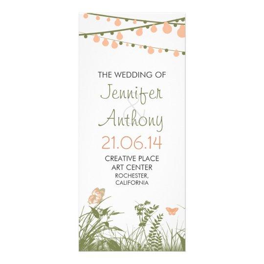 bright elegant wildflowers wedding programs 10 cm x