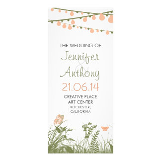 bright elegant wildflowers wedding programs rack card