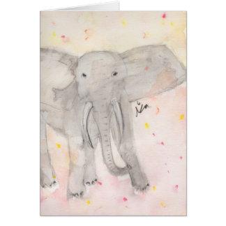 Bright Elephant Card