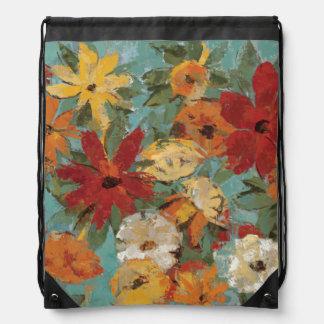 Bright Expressive Garden Drawstring Bag