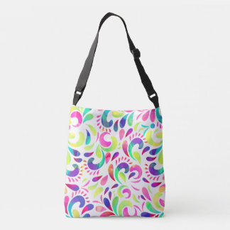 Bright extravaganza festive carnival color burst crossbody bag