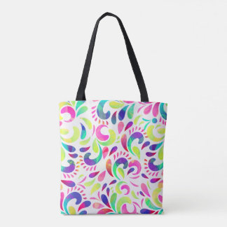 Bright extravaganza festive carnival color burst tote bag