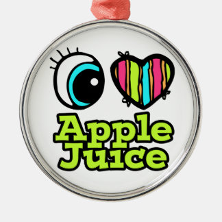 Bright Eye Heart I Love Apple Juice Christmas Ornament