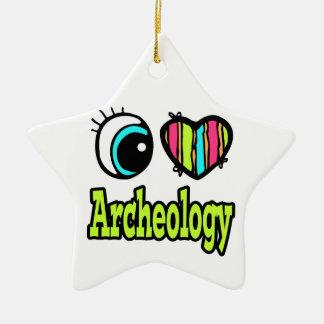 Bright Eye Heart I Love Archeology Christmas Ornament