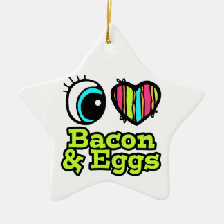Bright Eye Heart I Love Bacon and Eggs Christmas Ornament