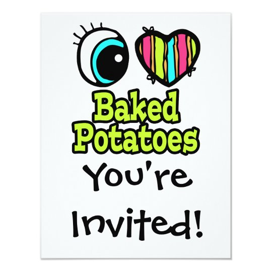 Bright Eye Heart I Love Baked Potatoes Card