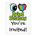 Bright Eye Heart I Love Baked Potatoes Invite