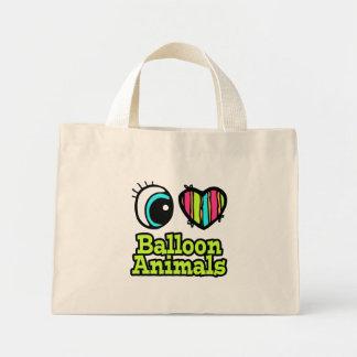 Bright Eye Heart I Love Balloon Animals Canvas Bags