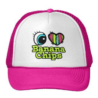 Bright Eye Heart I Love Banana Chips Trucker Hat