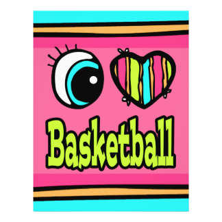 Bright Eye Heart I Love Basketball 21.5 Cm X 28 Cm Flyer