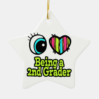 Bright Eye Heart I Love Being a 2nd Grader Christmas Ornament