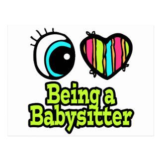 Bright Eye Heart I Love Being a Babysitter Postcard