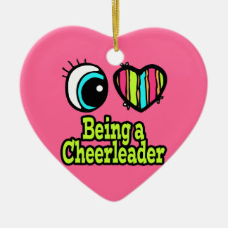Bright Eye Heart I Love Being a Cheerleader Christmas Ornament