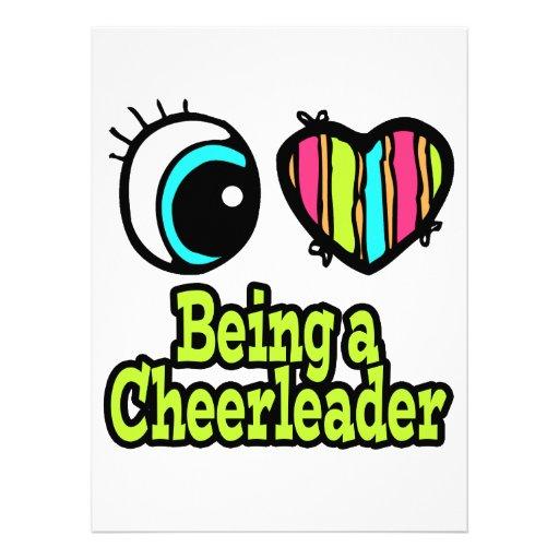 Bright Eye Heart I Love Being a Cheerleader Custom Announcements