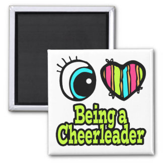 Bright Eye Heart I Love Being a Cheerleader Magnet