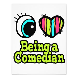 Bright Eye Heart I Love Being a Comedian Personalized Invite