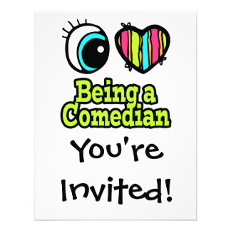 Bright Eye Heart I Love Being a Comedian Personalized Announcement