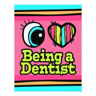 Bright Eye Heart I Love Being a Dentist 21.5 Cm X 28 Cm Flyer