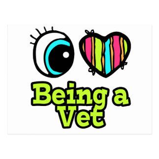 Bright Eye Heart I Love Being a Vet Postcard