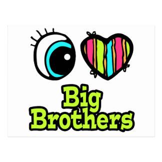 Bright Eye Heart I Love Big Brothers Postcard