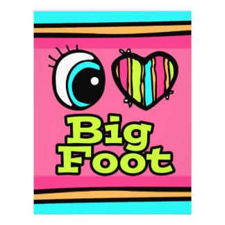 Bright Eye Heart I Love Big Foot Custom Flyer