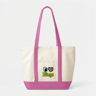 Bright Eye Heart I Love Blimps Tote Bags