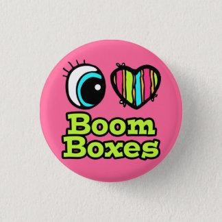 Bright Eye Heart I Love Boom Boxes 3 Cm Round Badge