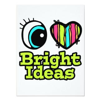 Bright Eye Heart I Love Bright Ideas Custom Announcement