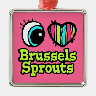Bright Eye Heart I Love Brussels Sprouts Christmas Ornament