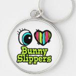 Bright Eye Heart I Love Bunny Slippers